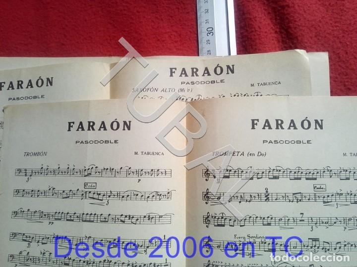 Partituras musicales: TUBAL M TABUENCA FARAON PASODOBLE PARTITURA ANTIGUA 1933 P5 - Foto 4 - 197859393