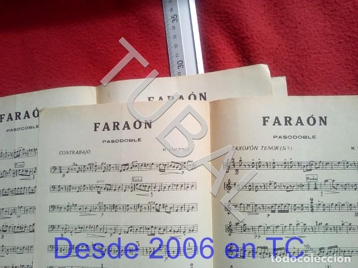 Partituras musicales: TUBAL M TABUENCA FARAON PASODOBLE PARTITURA ANTIGUA 1933 P5 - Foto 5 - 197859393