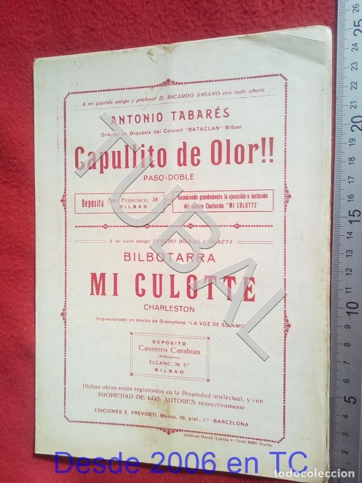 TUBAL ANTONIO TABARÉS CAPULLITO DE OLOR MI CULOTE PARTITURA ANTIGUA 1933 P5 (Música - Partituras Musicales Antiguas)