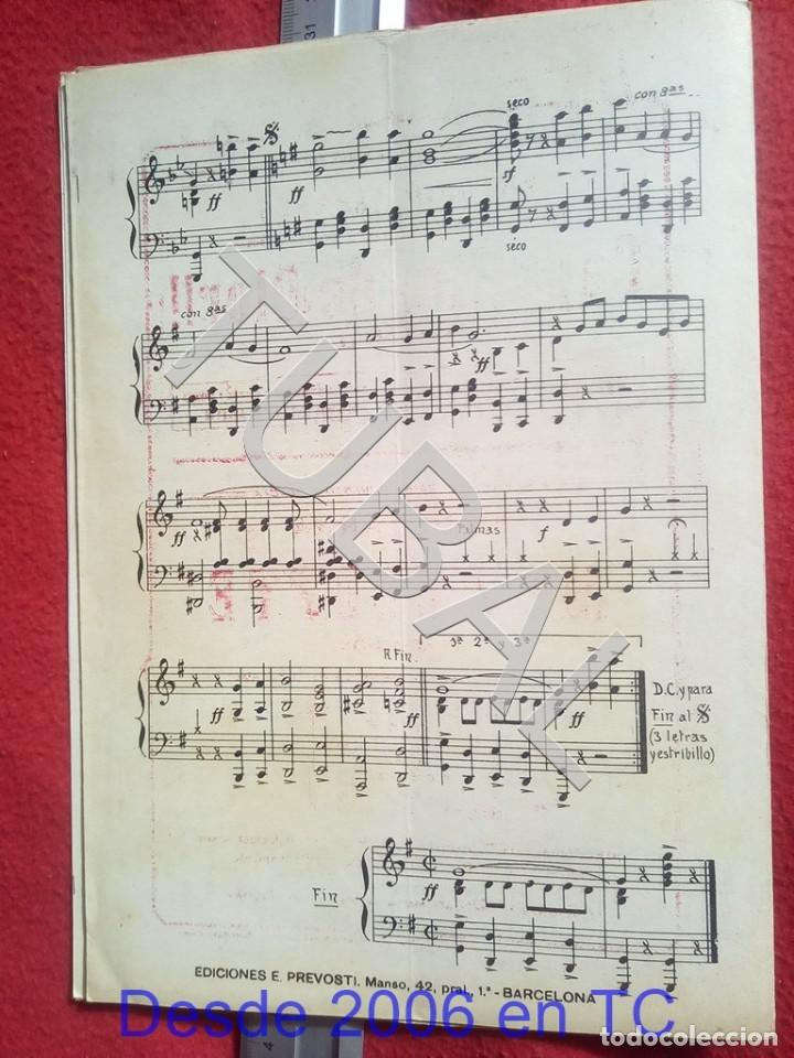 Partituras musicales: TUBAL ANTONIO TABARÉS CAPULLITO DE OLOR MI CULOTE PARTITURA ANTIGUA 1933 P5 - Foto 7 - 197860136