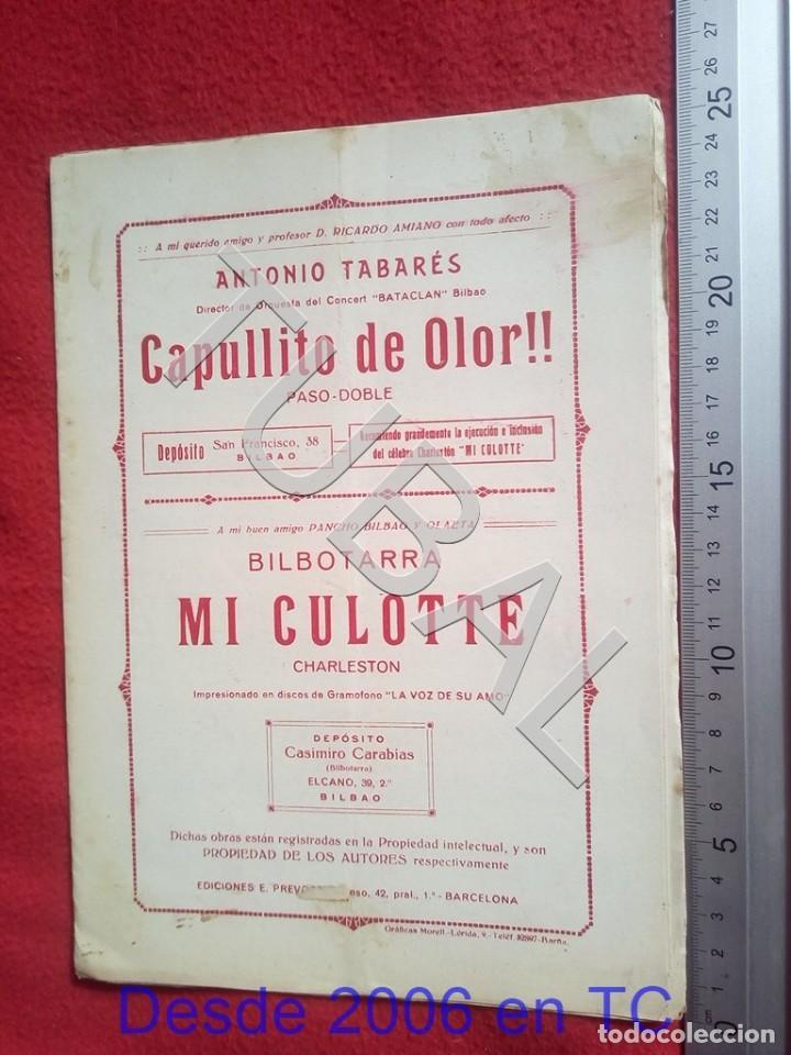 Partituras musicales: TUBAL ANTONIO TABARÉS CAPULLITO DE OLOR MI CULOTE PARTITURA ANTIGUA 1933 P5 - Foto 8 - 197860136