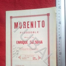 Partituras musicales: TUBAL ENRIQUE SOLSONA MORENITO PASODOBLE 1931 PARTITURA ANTIGUA P5. Lote 197861146