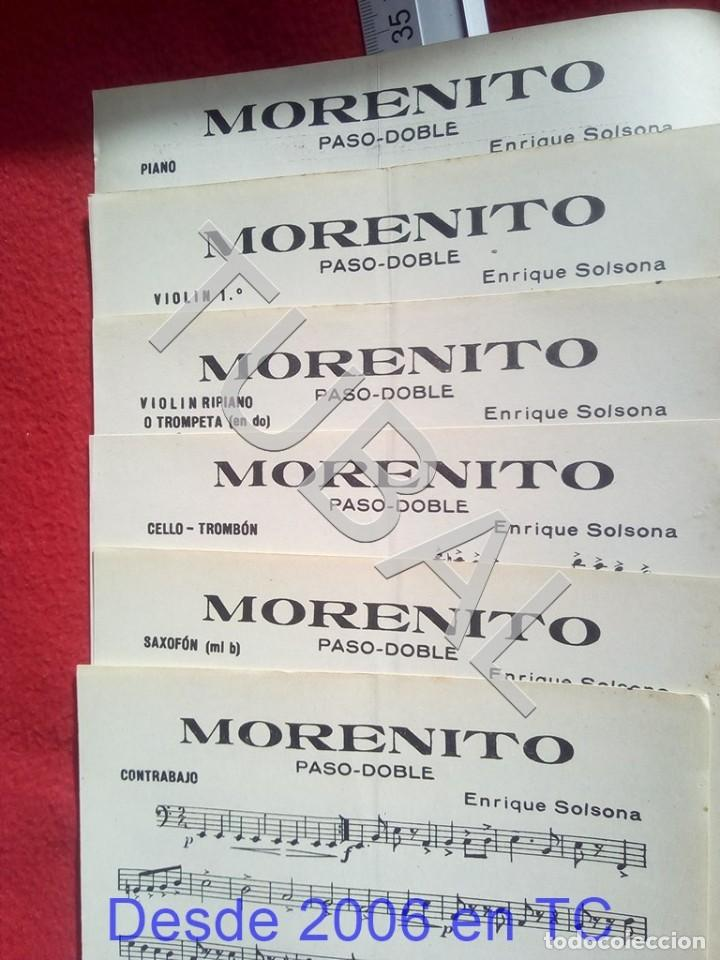 Partituras musicales: TUBAL ENRIQUE SOLSONA MORENITO PASODOBLE 1931 PARTITURA ANTIGUA P5 - Foto 2 - 197861146