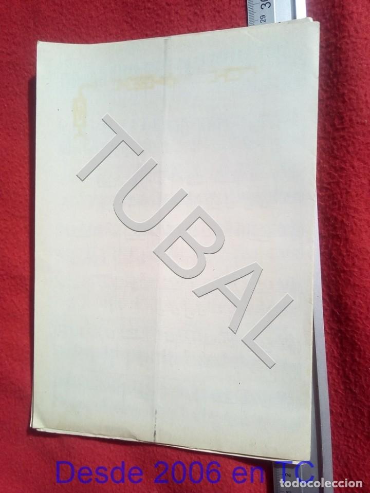 Partituras musicales: TUBAL ENRIQUE SOLSONA MORENITO PASODOBLE 1931 PARTITURA ANTIGUA P5 - Foto 3 - 197861146