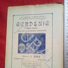 Partituras musicales: TUBAL DIMONIS OSCHESTRA GARDENIA 1930 PARTITURA ANTIGUA P5. Lote 197862011