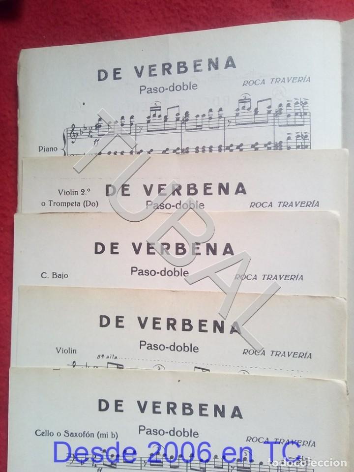 Partituras musicales: TUBAL ROCA TRAVERIA DE VERBENA 1930 PASODOBLE PARTITURA P5 - Foto 2 - 197869016