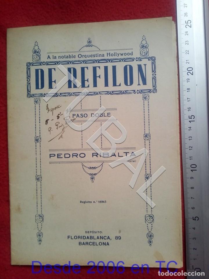 TUBAL 1931 PEDRO RIBALTA DE REFILON PASODOBLE PARTITURA P5 (Música - Partituras Musicales Antiguas)
