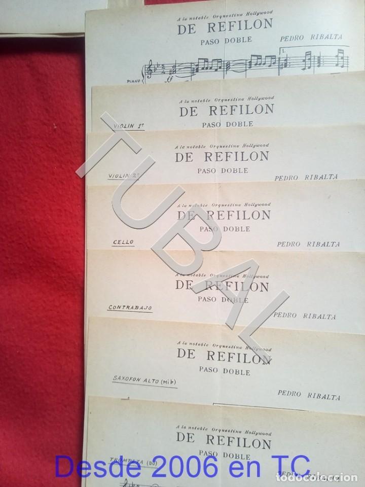 Partituras musicales: TUBAL 1931 PEDRO RIBALTA DE REFILON PASODOBLE PARTITURA P5 - Foto 2 - 197880727