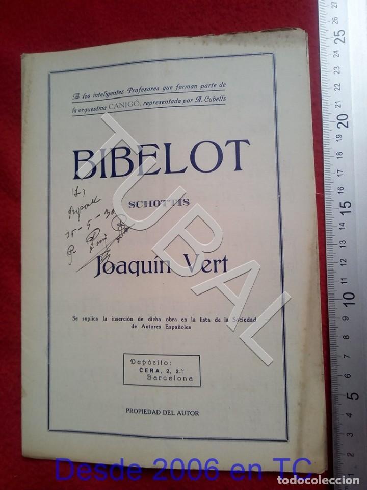 TUBAL JOAQUIN VERT BIBELOT CHOTIS 1930 PARTITURA P5 (Música - Partituras Musicales Antiguas)