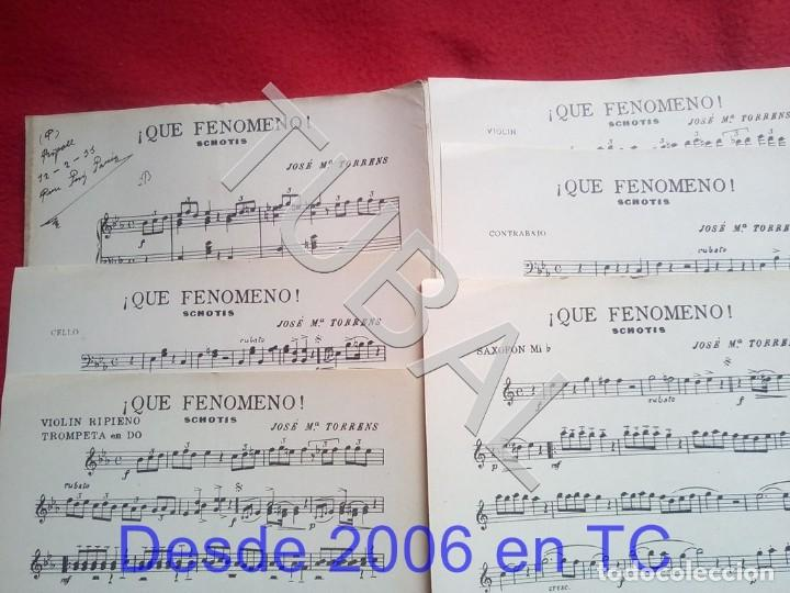 TUBAL JOSE Mª TORRENS QUE FENOMENO CHOTIS 1933 PARTITURA P5 (Música - Partituras Musicales Antiguas)