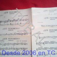 Partituras musicales: TUBAL JOSE Mª TORRENS QUE FENOMENO CHOTIS 1933 PARTITURA P5. Lote 197881567