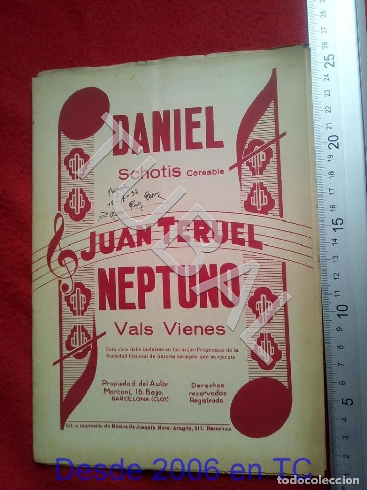 TUBAL JUAN TERUEL DANIEL NEPTUNO CHOTIS VALS VIENÉS 1934 PARTITURA P5 (Música - Partituras Musicales Antiguas)