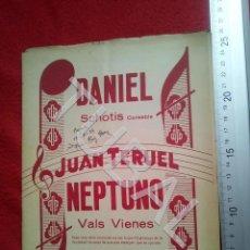 Partituras musicales: TUBAL JUAN TERUEL DANIEL NEPTUNO CHOTIS VALS VIENÉS 1934 PARTITURA P5. Lote 197881631