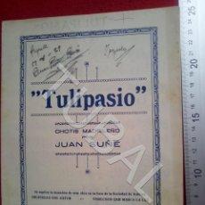 Partituras musicales: TUBAL JUAN SUÑÉ TULIPASIO 1929 CHOTIS PARTITURA P5. Lote 197881700