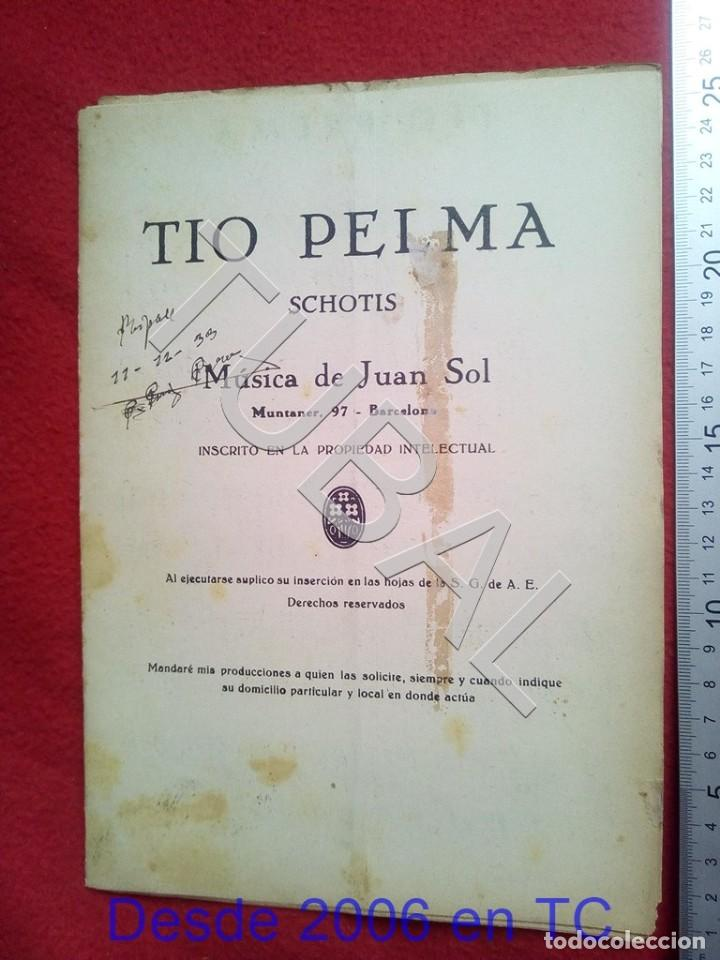 TUBAL JUAN SOL 1933 TIO PELMA CHOTIS PARTITURA P5 (Música - Partituras Musicales Antiguas)
