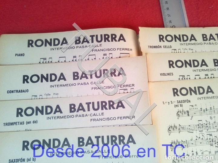 Partituras musicales: TUBAL FRANCISCO FERRER RONDA BATURRA RONDALLERO 1934 PARTITURA P6 - Foto 2 - 198344185