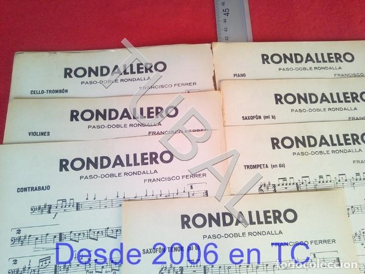 Partituras musicales: TUBAL FRANCISCO FERRER RONDA BATURRA RONDALLERO 1934 PARTITURA P6 - Foto 3 - 198344185