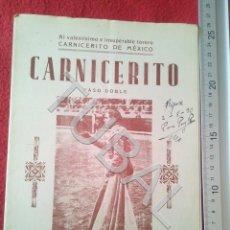 Partituras musicais: TUBAL F PALENCIA CARNICERITO TORERO PASODOBLE 1931 PARTITURA P6. Lote 198562352