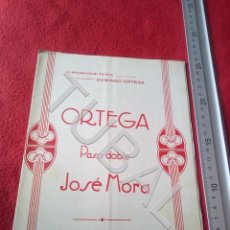 Partituras musicais: TUBAL JOSÉ MORA AL TORERO DOMINGO ORTEGA PARTITURA P6. Lote 198563445
