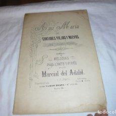 Partituras musicales: A MI MARIA CANTARES VIEJOS Y NUEVOS DE GALICIA 4ª SERIE.MELODIAS PARA CANTO Y PIANO MARCIAL ADALID. Lote 238125865