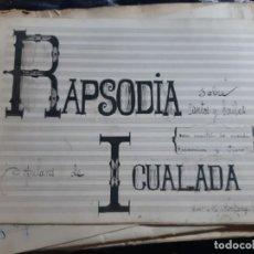 Partituras musicais: LOTE DE PARTITURAS, MUSICALES, IGUALADA. ESCRITAS MIQUEL JORDANA, VARIAS, VER FOTOS, ORIGINALES. Lote 200109278