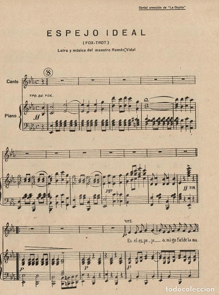 Partituras musicales: ESPEJO IDEAL. RAMON VIDAL. ED. DO-RE-MI. - Foto 2 - 200176395