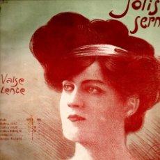 Partituras musicales: CLIFTON WORSLEY : JOLIS SERMENTS (MUSICAL EMPORIUM, 1908). Lote 200312730