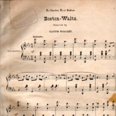Partituras musicales: CLIFTON WORSLEY : BOSTON WALTZ (GUARDIA, S.F.). Lote 200313042