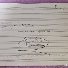 Partituras musicais: CARMEN, SARDANA I MUSICA ORIGINAL DE RAMON ROSELL, TORDERA 1928. Lote 201119873
