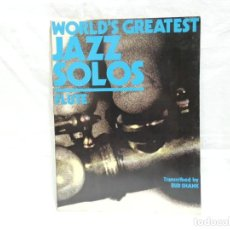 Partituras musicales: LIBRO PARTITURAS WORLD'S GREATEST JAZZ SOLOS - FLUTE (1978). Lote 201686238