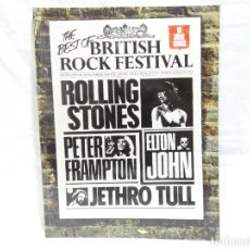 Partituras musicales: PARTITURAS THE BEST OF BRITISH ROCK FESTIVAL - STONES, ELTON JOHN, JETHRO, FRAMPTON (1977). Lote 201686713