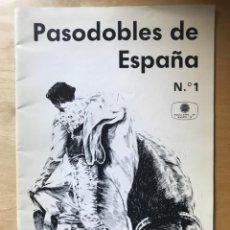 Partituras musicales: PASODOBLES DE ESPAÑA Nº 1 - CANCIONES DEL MUNDO. Lote 202261968