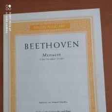 Partituras musicales: MENUETT EN SOL MAYOR, DE BEETHOVEN, VIOLONCHELO (CELLO), SCHOTT. Lote 203016501