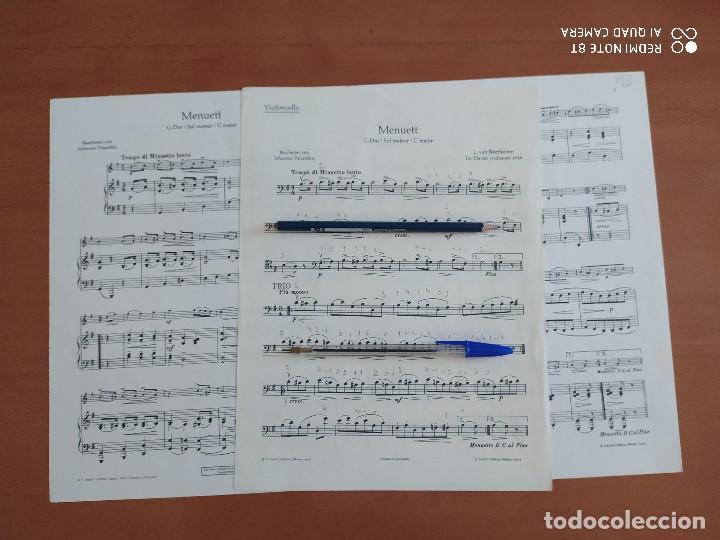 Partituras musicales: MENUETT EN SOL MAYOR, DE BEETHOVEN, VIOLONCHELO (CELLO), SCHOTT - Foto 2 - 203016501