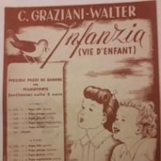 Partituras musicales: PARTITURA DE COLECCION ANTIGUA INFANZIS. Lote 203098266