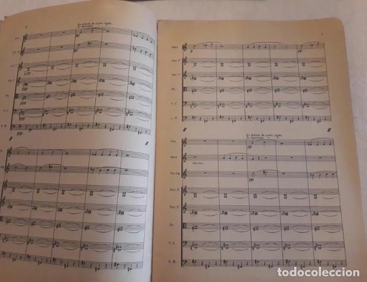 Partituras musicales: PARTITURA FIRMADA POR JOAQUÍN RODRIGO Y DEDICADA AL MINISTRO JESÚS RUBIO. DOS BERCEUSES. 1947. - Foto 4 - 203814790