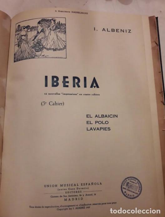 ALBENIZ.FALLA.IBERIA1907.SUITE ESPAGNOLE1918.UNIÓN MUSICAL ESPAÑOLA.PARTITURAS. PIANO.MÚSICA CLÁSICA (Música - Partituras Musicales Antiguas)