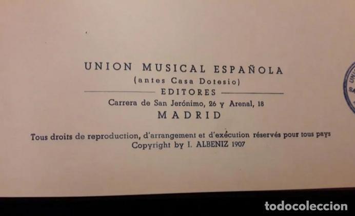 Partituras musicales: Albeniz.Falla.Iberia1907.Suite Espagnole1918.Unión Musical Española.Partituras. Piano.Música clásica - Foto 4 - 203817058