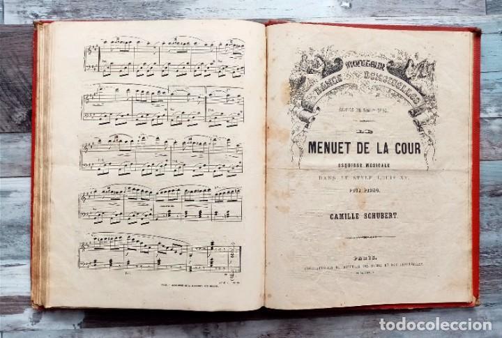 ANTIGUO LIBRO DE PARTITURAS PARA PIANO DEL S XIX (Música - Partituras Musicales Antiguas)