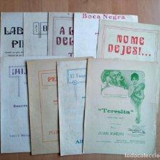 Partituras musicales: 9 ANTIGUAS PARTITURAS DE TANGO PARA PIANO. MAFFIA, FIRPO, CELEDONIO FLORES. Lote 203952313