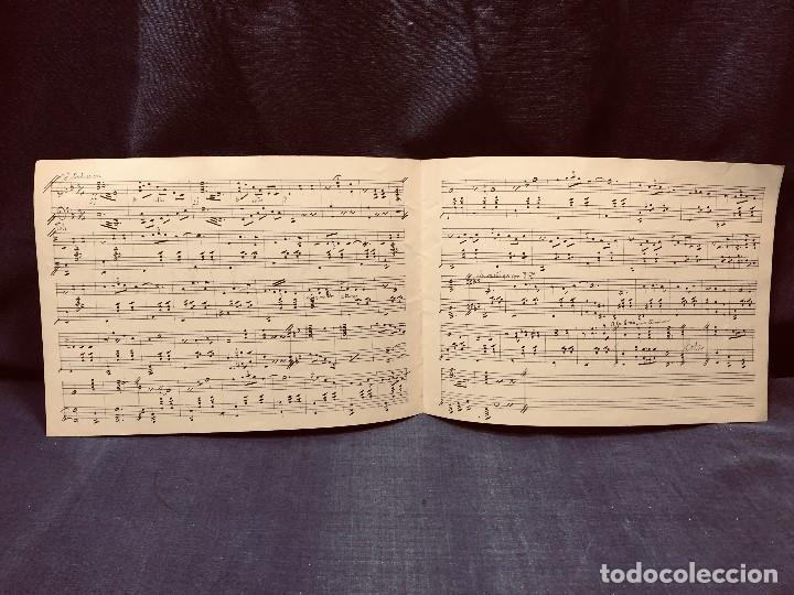 Partituras musicales: partitura manuscrita S XIX ensueño vals por M. JIMENEZ DE LA ACEÑA 22x30cms - Foto 3 - 204240971
