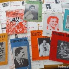 Partituras musicales: LOTE 47 PARTITURAS VARIAS Y MANUAL DE JAZZ- TODAS EN FOTOS ADJUNTAS. Lote 204643573