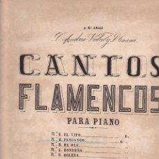 Partiture musicali: ANTIGUA PARTITURA CANTOS FLAMENCOS EL FANDANGO MAESTRO J. CANSINO. Lote 204691516