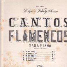 Partiture musicali: ANTIGUA PARTITURA CANTOS FLAMENCOS EL OLE MAESTRO J. CANSINO. Lote 204691586