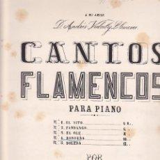 Partiture musicali: ANTIGUA PARTITURA CANTOS FLAMENCOS RONDEÑA MAESTRO J. CANSINO. Lote 204691641