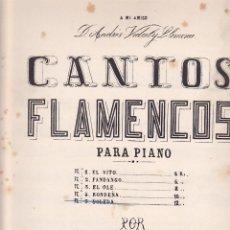 Partiture musicali: ANTIGUA PARTITURA CANTOS FLAMENCOS SOLEDA MAESTRO J. CANSINO. Lote 204691687