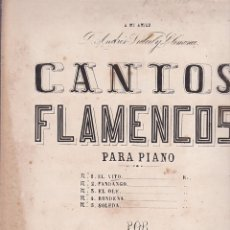 Partiture musicali: ANTIGUA PARTITURA CANTOS FLAMENCOS EL VITO MAESTRO J. CANSINO. Lote 204691767