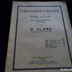 Partituras musicales: FANTASIAS FACILES PARA VIOLIN CON ACOMPAÑAMIENTO DE PIANO- LA SONAMBULA. Lote 205186423