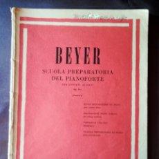 Partituras musicales: BEYER SCUOLA PREPARATORIA DEL PIANOFORTE PER GIOVANI ALLIEVI OP. 101 (POZZOLI) - RICORDI TAPA BLANDA. Lote 205287878