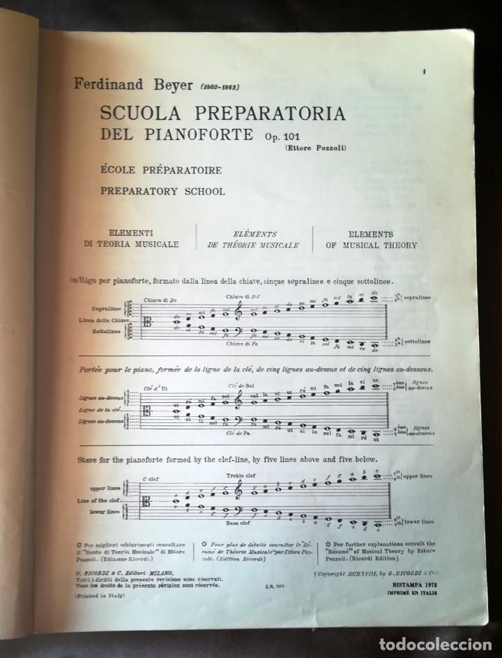 Partituras musicales: Beyer Scuola Preparatoria Del Pianoforte Per Giovani Allievi Op. 101 (Pozzoli) - Ricordi Tapa blanda - Foto 5 - 205287878